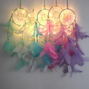 attrape rêve lumineux Angeni