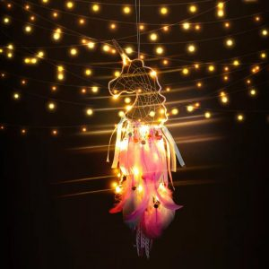 attrape rêve licorne lumineux